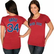 Boston Red Sox Majestic Ladies Official Name & Number  T-Shirt - Red