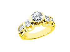 Natural 1.70Ct Round Cut Diamond Bridal Engagement Ring Solid 14k Gold I SI2