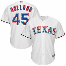 Derek Holland Texas Rangers Majestic Cool Base Player Jersey - White - MLB