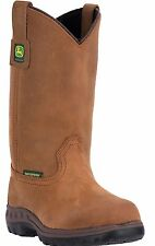 New John Deere Women's JD3204 Steel Shank Waterproof Leather Wellington Boots
