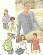 Butterick 3584 Sewing Pattern UC Misses Close-Fitting Pullover Tops 5 Designs