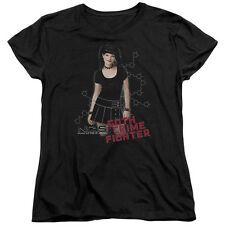 NCIS CBS TV Show Goth Crime Fighter Pose Women's T-Shirt Tee