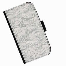 BG41 GREY SWIRLS PRINTED LEATHER WALLET/FLIP  CASE COVER FOR MOBILE PHONE