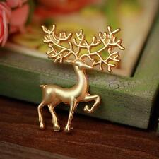 Fashion Jewelry Christmas Animal Elk Deer Brooch Pin Xmas Gifts