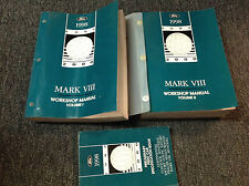 1998 FORD Lincoln Mark VIII Service Shop Repair Manual Set FACTORY W Specificati