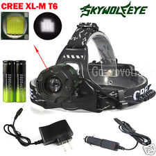 Zoomable 5000Lm Headlamp CREE XM-L T6 LED Focus Headlight 18650 Battery Charger