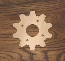 Crafting Supplies -- Set of 5 Wooden gears Unfinished Laser Cut Wood A029