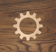 Crafting Supplies -- Set of 5 Wooden gears Unfinished Laser Cut Wood A007