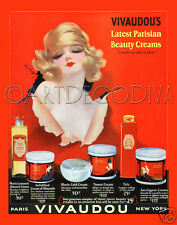VTG 1920's French Perfume WOMAN Red Beauty Bathroom SEXY Pinup Fine Art Print