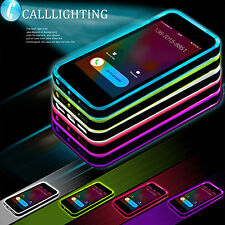LED Incoming Call Blink Flash Shockproof Rubber Hard Case Cover For iPhone 6 6S