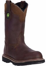 "New John Deere JD4194 Men's 11"" Gaucho Pull-On Welt Brown Leather Western Boots"