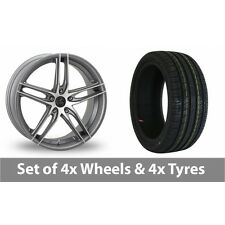 """4 x 16"""" AC Wheels Shot Grey Polished Alloy Wheel Rims and Tyres -  195/45/16"""
