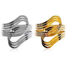 Fashion Gold/Silver Plated Wide Metal Wristband Open Cuff Bracelet Bangle Armlet