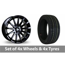 "4 x 20"" Bola XTR Matt Black Alloy Wheel Rims and Tyres -  245/40/20"