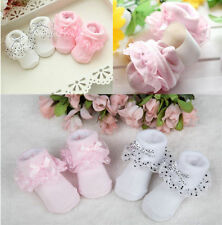 New Bowknot Cozy Toddler Baby Girls Cotton Ankle Socks Lace Socks Dots Princess