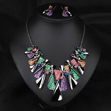 Statement Crystal 2016 Choker Pendant Jewelry Chunky Necklace Bib Chain Women