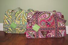 Vera Bradley LEMON PARFAIT or VERY BERRY PAISLEY Squared Away Tote Purse - NWT
