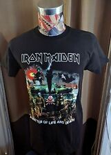 BRAND NEW IRON MAIDEN MULTICOLOR A MATTER OF LIFE AND DEATH BLACK ROCK T SHIRT