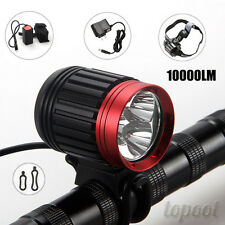 10000LM 3x CREE XML T6 LED Rechargeable Bike Bicycle Front Head Light Headlamp