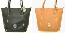 NEW GUESS GARLAND BLACK+COGNAC,LUGGAGE,BROWN LEATHERETTE PURSE,HAND SHOULDER BAG