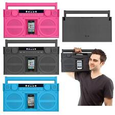 iHome FM 30-Pin iPod T/ iPhone 3G 3Gs 4 4s Speaker Dock Boombox Blue Gray Pink