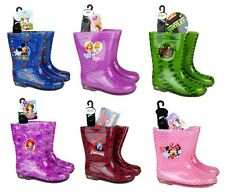 INFANTS Kids Disney Character Wellies Wellington Waterproof Rain Snow BOOTS