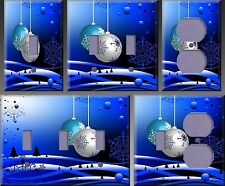 Bright Shining Christmas Ornaments Wall Decor Light Switch Plate Cover
