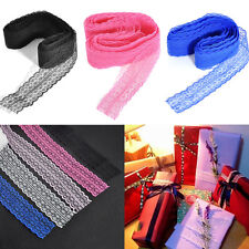 10 Yard Embroidered Net Floral Lace Trim Ribbon Cloth Decor 4.5cm Craft Gift DIY