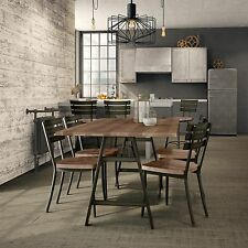 Amisco Stadium Metal Chairs and Bridgeport Table, Dining Set
