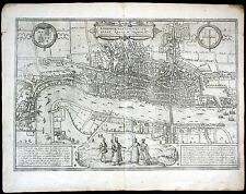 ca. 1575 London Londinum Braun Hogenberg map Plan Kupferstich