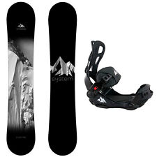 2017 System Timeless with LTX Rear Entry Bindings Men's Snowboard Package