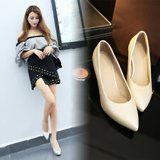 Slim Med Heel Pointy Toe Women's Shoes Lady's Shoes Heels AU All Size s1012