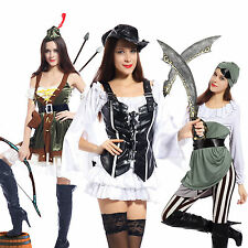 Ladies Shipmate Sweetie Caribbean Pirate Fancy Dress Wench Party Costume Outfit