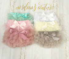 Baby Ruffle Diaper Cover Chiffon Frilly Ruffle Bloomer US Seller