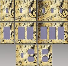 Old Music Sheet Wall Decor Light Switch Plate Cover