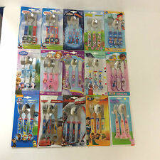 ATTRACTIVE PRACTICAL TV FILM CHILDRENS FUN CHARACTERS 3pc also 2pc cutlery sets