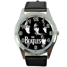 THE BEATLES ROUND WATCH NEW Stainless Steel fashion music UK