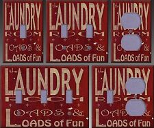 Laundry Room Wall Decor Light Switch Plate Cover