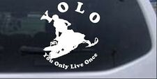 YOLO You Only Live Once Snowmobile Car Truck Window Laptop Decal Sticker 6X5.3