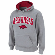 Arkansas Razorbacks Stadium Athletic Arch & Logo Pullover Hoodie - Gray - NCAA