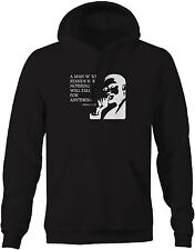 Sweatshirt -Malcolm X Man who Stands for Nothing Fall for Anything