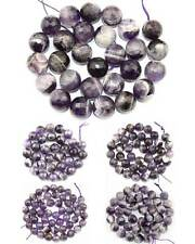 Cut Faceted Round Natural Striped Amethyst Gemstone Beads 15'' 8mm 10mm 12mm