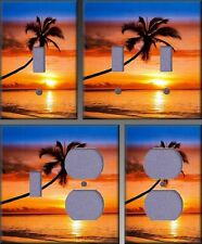 Sunset Palm Wall Decor Light Switch Plate Cover