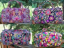 VERA BRADLEY Large Duffel Travel Bag Suzani Symphony in Hue Va Va Bloom