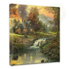 Thomas Kinkade Mountain Retreat Open Edition Wrapped Canvas 14x14