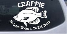 Crappie Fishing Decal Car or Truck Window Laptop Decal Sticker 4X5.6