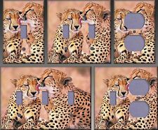 South African Cheetahs Wall Decor Light Switch Plate Cover