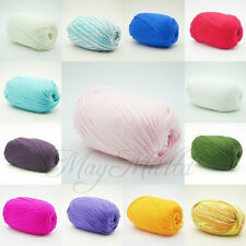 50g Skein Wholesale Smooth Super Soft Natural Silk Wool Fiber Baby Yarn