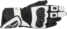 Womens Alpinestars Stella SP Air Black White Leather Motorcycle Riding Gloves