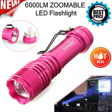 6000LM CREE Q5 AA/14500 3Modes ZOOMABLE LED Tactical Flashlight Torch Light Lamp